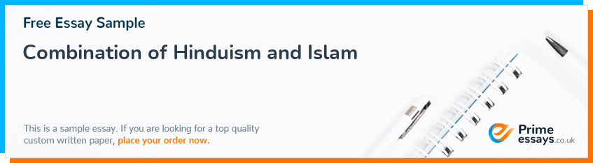 Combination of Hinduism and Islam