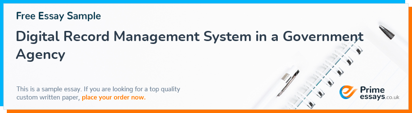 Digital Record Management System in a Government Agency
