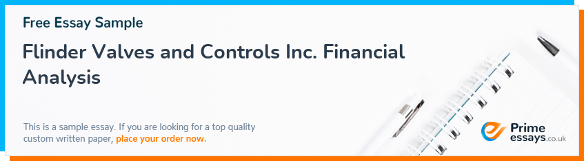 Flinder Valves and Controls Inc. Financial Analysis
