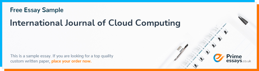 International Journal of Cloud Computing