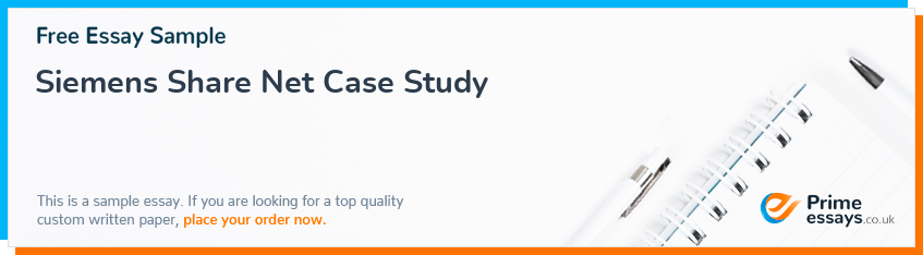 Siemens Share Net Case Study