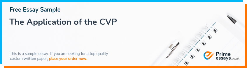 The Application of the CVP