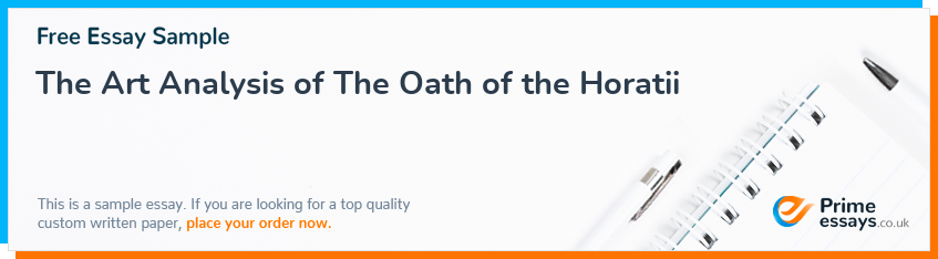 The Art Analysis of The Oath of the Horatii